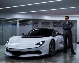 HR Owen chief executive, Ken Choo, with the Pininfarina Battista EV hypercar