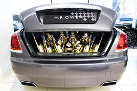 One of two champagne-packed Rolls Royce sold by HR Owen