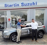 Ian Henry and Paul Bothma, sales manager of Startin Suzuki St Peter's Worcester.