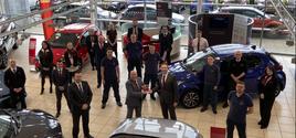 The team at Motorline Toyota Ashford (Kent) with their Ichiban Award