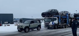 'Iconic' Land Rover Defender rescues car transporter from snow and ice at Swansway Land Rover Stafford