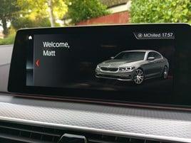 BMW 5 Series infotainment welcome