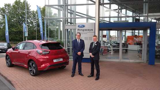 Stephen Russell, managing director at Ringways (left) and Angus Keith, director at DM Keith