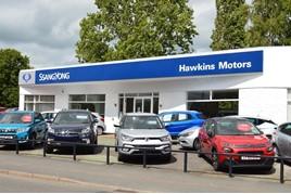 Hawkins Motors' new Ssangyong Motors UK franchised car dealership in Shrewsbury