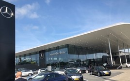 Conference venue: Mercedes-Benz's new dealership in The Hague