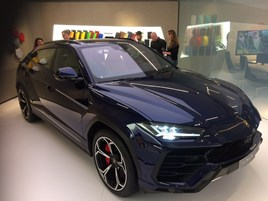 Lamborghini Urus at the Geneva Motor Show 2018