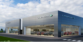 An Inchcape JLR Arch Concept dealership facility