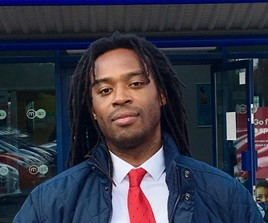 Isaac Barrett, sales manager at Motorpoint's Oldbury car supermarket