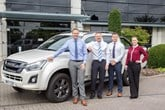 Isuzu's fleet team (left to right): National fleet sales managers Neil Scott and Alan Able with fleet and used car manager Sean Smith and fleet administrator Amy Ahern.