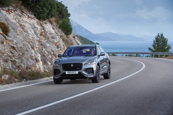 A new grille, daytime running lights (DRL) and LED headlights are part of the new F-Pace's makeover
