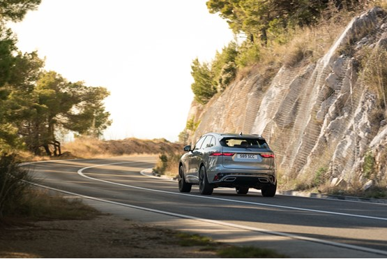 All-wheel-drive and an eigh-speed automatic gearbox are standard across the Jaguar F-Pace range