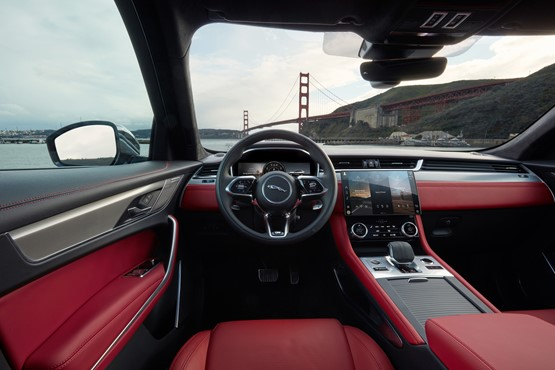 All-new F-Pace's interior features Jaguar Land Rover's (JLR) new Pivi Pro infotainment system