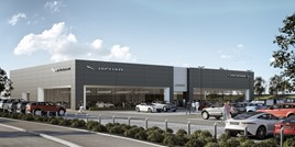 Lookers planned 16,193 square foot JLR dealership facility at Aston Clinton