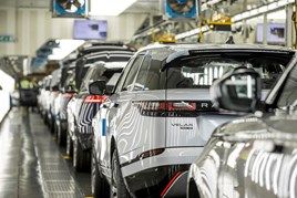 Jaguar Land Rover Solihull manufacturing plant