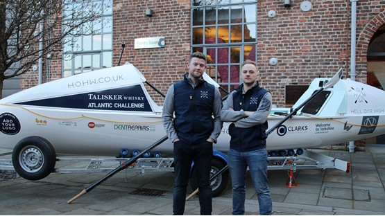 Talisker Whisky Atlantic Challenge competitors James Tordoff, manager of Vauxhall Bradford, and Chris Nicholl