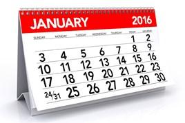 January 2016 calendar
