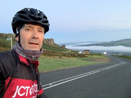 JCT600 froup finance director Nigel Shaw completes his 500-mile challenge