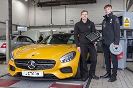George Moore from Rotherham who is a first year apprentice parts adviser at Mercedes-Benz Sheffield, and Thomas Guest from Barnsley, who recently completed his  three year technician apprenticeship at the dealership