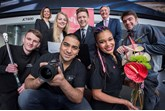 Young people from The Prince's Trust  with apprentices from JCT600