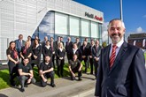 Steve Kirby, head of business at JCT600's Hull Audi dealership and his team