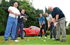 Pictured: (L-R) Steve Wood-president/secretary at Teesside Golf Club with Team Jennings – Jordan Scott, internet sales executive, Lee McGuinness, group systems co-ordinator, Martyn Hepple, group IT manager and Burt Perry, franchise manager.