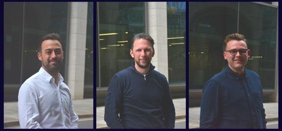 JustGoEV founders Jack Woodgate, Ben Caspary and Joe Worsfold