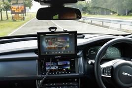 Jaguar Land Rover's autonomous XF saloon