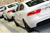 A Jaguar Land Rover (JLR) production line