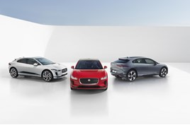 Jaguar Land Rover's (JLR) online showroom, featuring the I-Pace electric vehicle (EV)