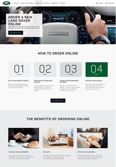Jaguar Land Rover's (JLR) online car retail platform