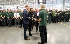 The Duke and Duchess of Cambridge at Jaguar Land Rover