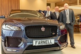 Vertu Motors' Farnell Guiseley team (from left): Stephen Whitaker, head of business; Mike Simms, general sales manager; and Ryan Flynn, service manager
