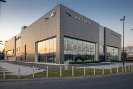 JLR Dual  Arch Concept car dealership facility in South West London