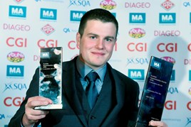 Last year's Scottish Apprentice of the Year, civil engineer Joe Smith