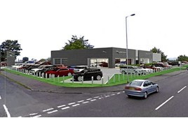 Artist's impression: the proposed John Clark Motor Group JLR showroom off King's Cross Road, Dundee