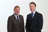 John Clark Motor Group chairman and managing director John Clark (left) alongside group managing director Chris Clark