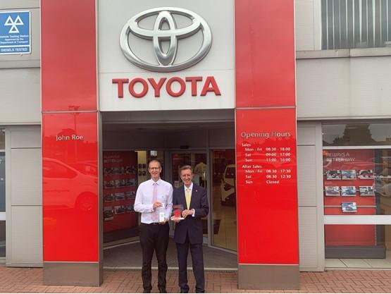 John Roe Scunthorpe Toyota celebrates its Ichiban Awards win