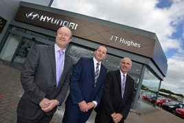 John Hughes, managing director of the JT Hughes Group, pictured with sales director Paul Tench aftersales director and Ian Jones