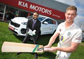 Durham and England cricketer, Keaton Jennings with Sohail Khan, director of Jennings Motor Group at the company's Kia dealership in Washington