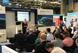 IAAF chief executive Wendy Williamson at Automechanika Birmingham 2018