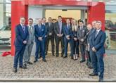 Paul Philpott (far right) with the team from Ringways Kia Leeds