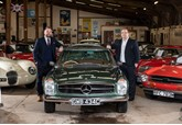 Classic & Sportscar Centre chief executive James Szkiler (left) and HSBC UK's Stephen Smith