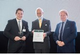 Will Allen, HRH Prince Michael of Kent and Steve Nash, IMI