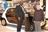 Ify Madueke, Lancaster Mercedes-Benz, with smart customer David Clark