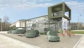 Artist's impression: the new Dacia car dealership design