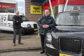 Gillanders Motors' LEVC  franchise (left to right): Derek Pirie, aftersales manager, and Mark Stevenson, sales manager