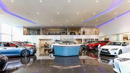 Inside Motorline's new Lexus showroom in Maidstone, Kent