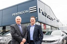 Lincoln Pentagon Peugeot: managing directors, David Lewis of Pentagon Motor Group (left) and David Peel of Peugeot UK