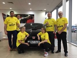 The Lings Motor Group team: Daniel Lake (Dealer Principle), Paul Hunter (Service Manager), Laura Nettlingham, John Barkshire (Marketing IT), Martine Bonnor and Paul Barkshire (Director).