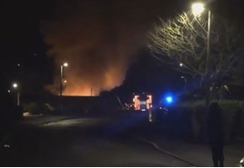 Listers Land Rover Solihull fire. Picture provided by Matt Hargreaves